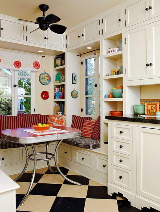 Small apartment decorating ideas Breakfast nook bar ideas