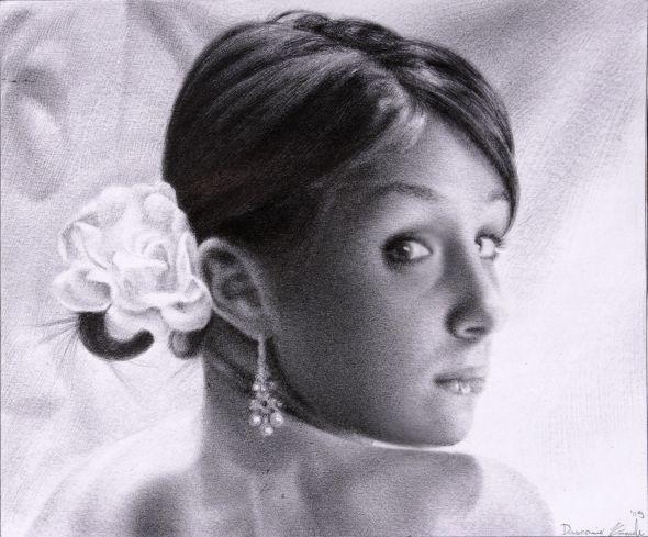 Emanuele Dascanio pinturas retratos e natureza morta hiper-realistas Belas moças