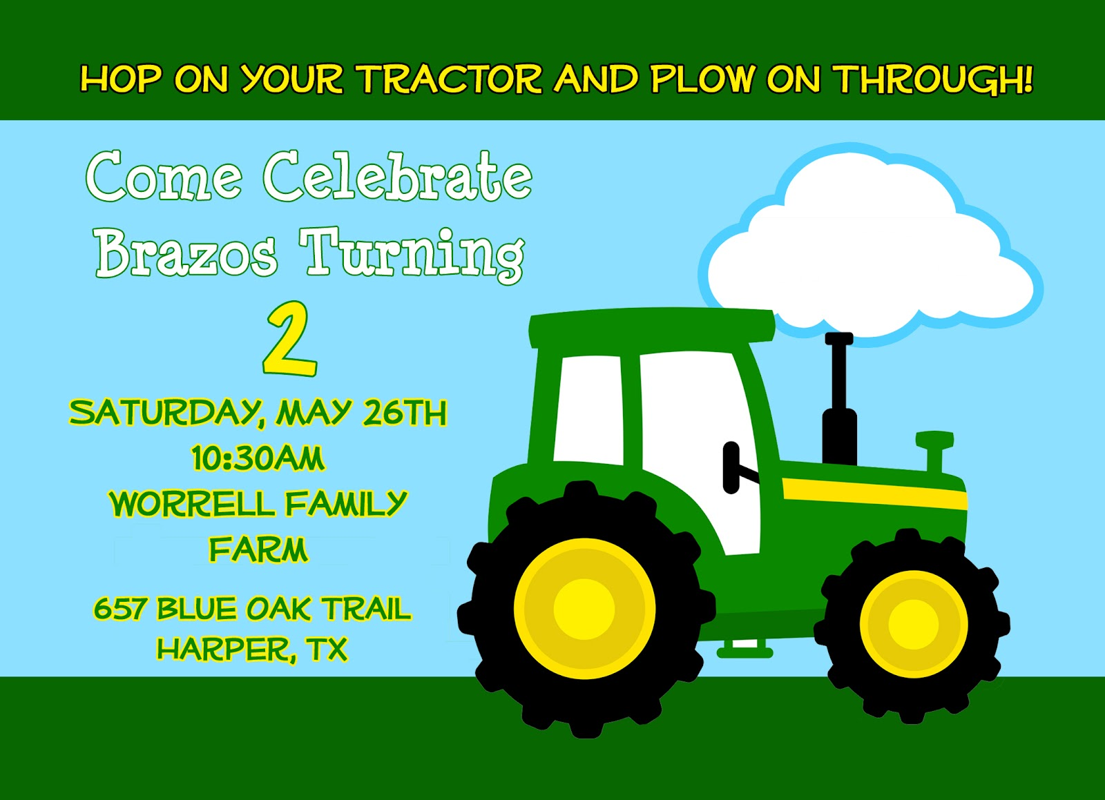 Worrell wanderings brazos tractor party