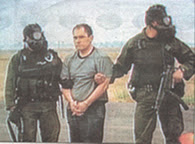 Osiel Cardenas during his capture in Mexico.