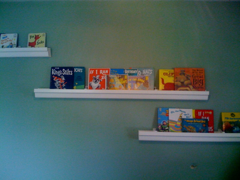Vol vi the new jersey experiece rain gutter book shelves for Plastic rain gutter bookshelf