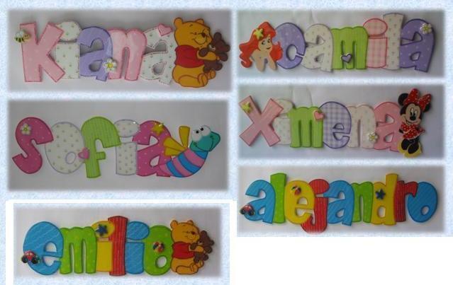 Percheros infantiles letreros nombre bebe - Percheros para ninas ...