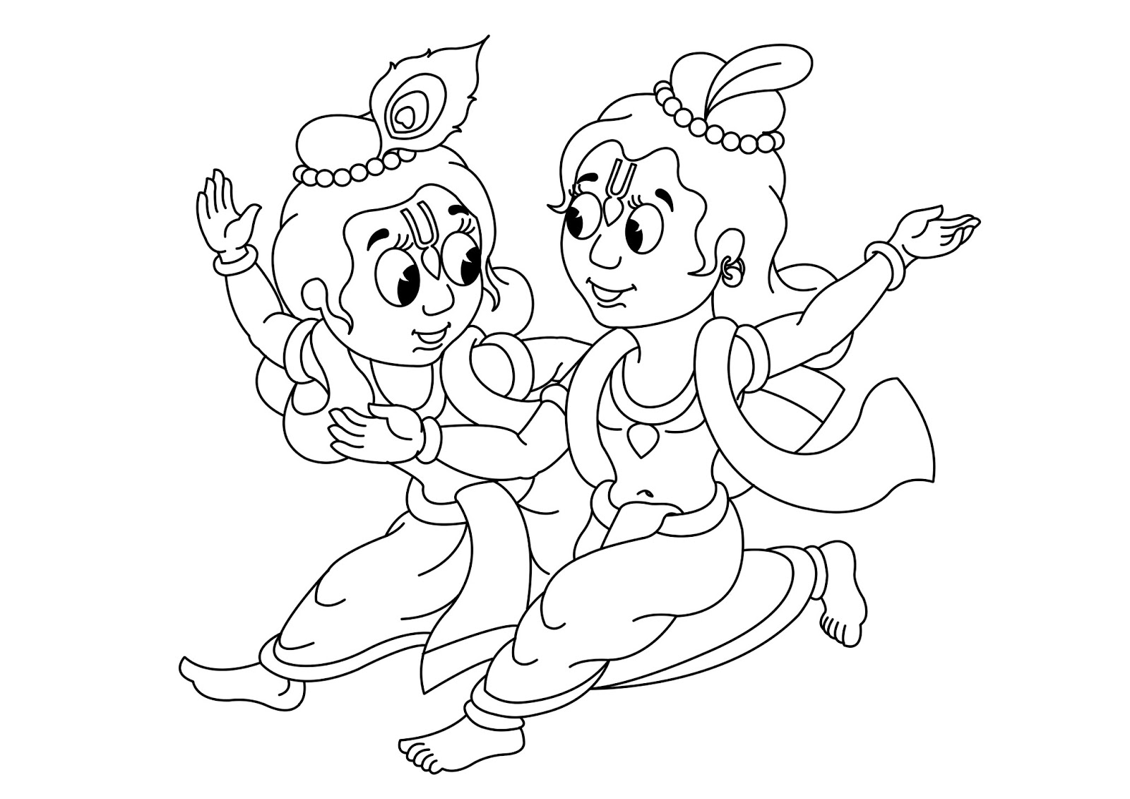 bhagavat chintan das bhikaji sri krishna balarama line colour hd wallpapers little krishna coloring page - Baby Krishna Images Coloring Pages
