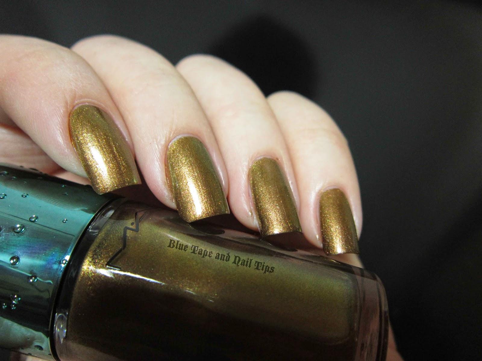 Blue Tape and Nail Tips: MAC Alluring Aquatic Nail Polishes