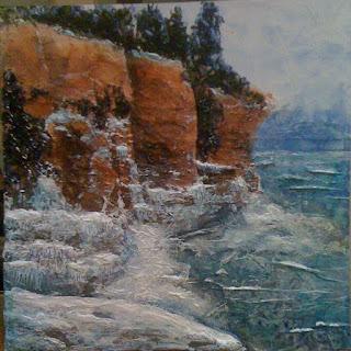 winters majesty, painting Bruce Peninsula