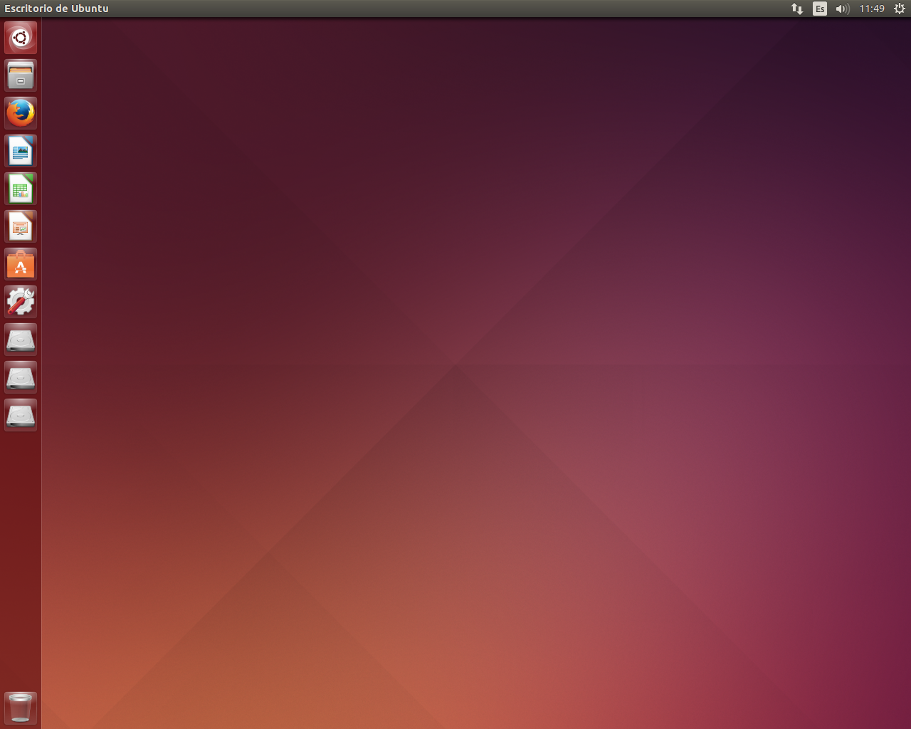 1 escritorio ubuntu lts trastetes. Black Bedroom Furniture Sets. Home Design Ideas