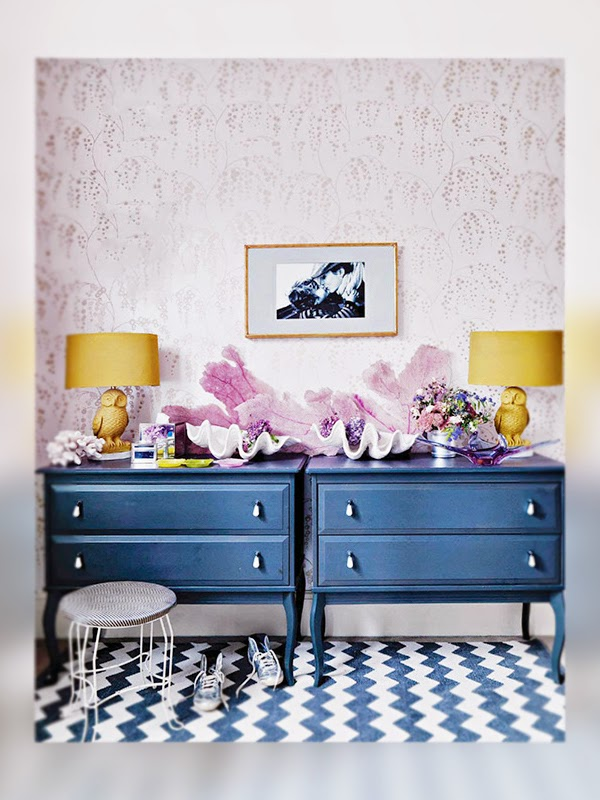 Love color. Love excessive. Elle Decor, Decoración, Decoration, color, kitsch, La Musa, decor, bedroom