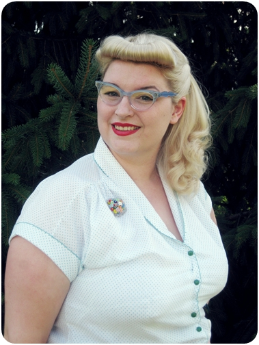 vintage plus size pin up fashion cat eye glasses and fux bettie bangs