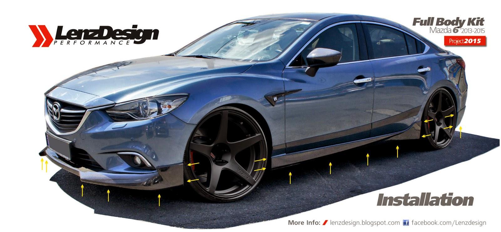 Mazda 6 Gj Atenza Lenzdesign Bodykit Amp Spoilers 2013 2014