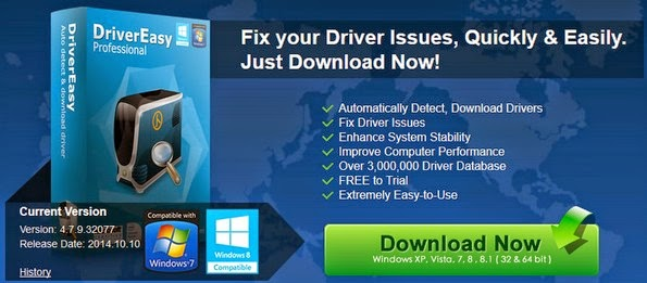 Driver Easy software for device driver management