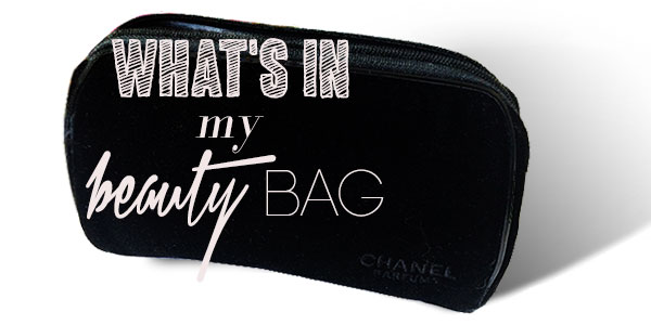 what's in my beauty bag, thrifted Chanel make-up bag