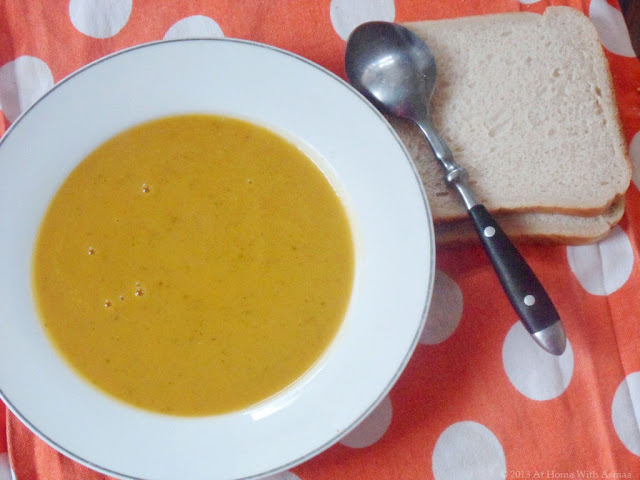 butternut squash carrot and red lentil soup recipe | Halal Home Cooking