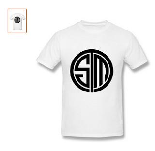 SHUNAN Men's Tsm Team Solomid Swords Logo T-shirt