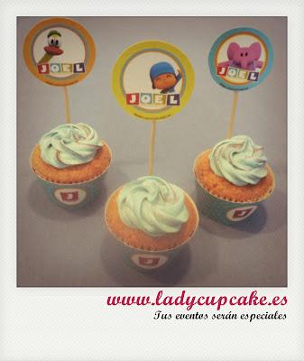 cupcakes pocoyo fiestas infantiles