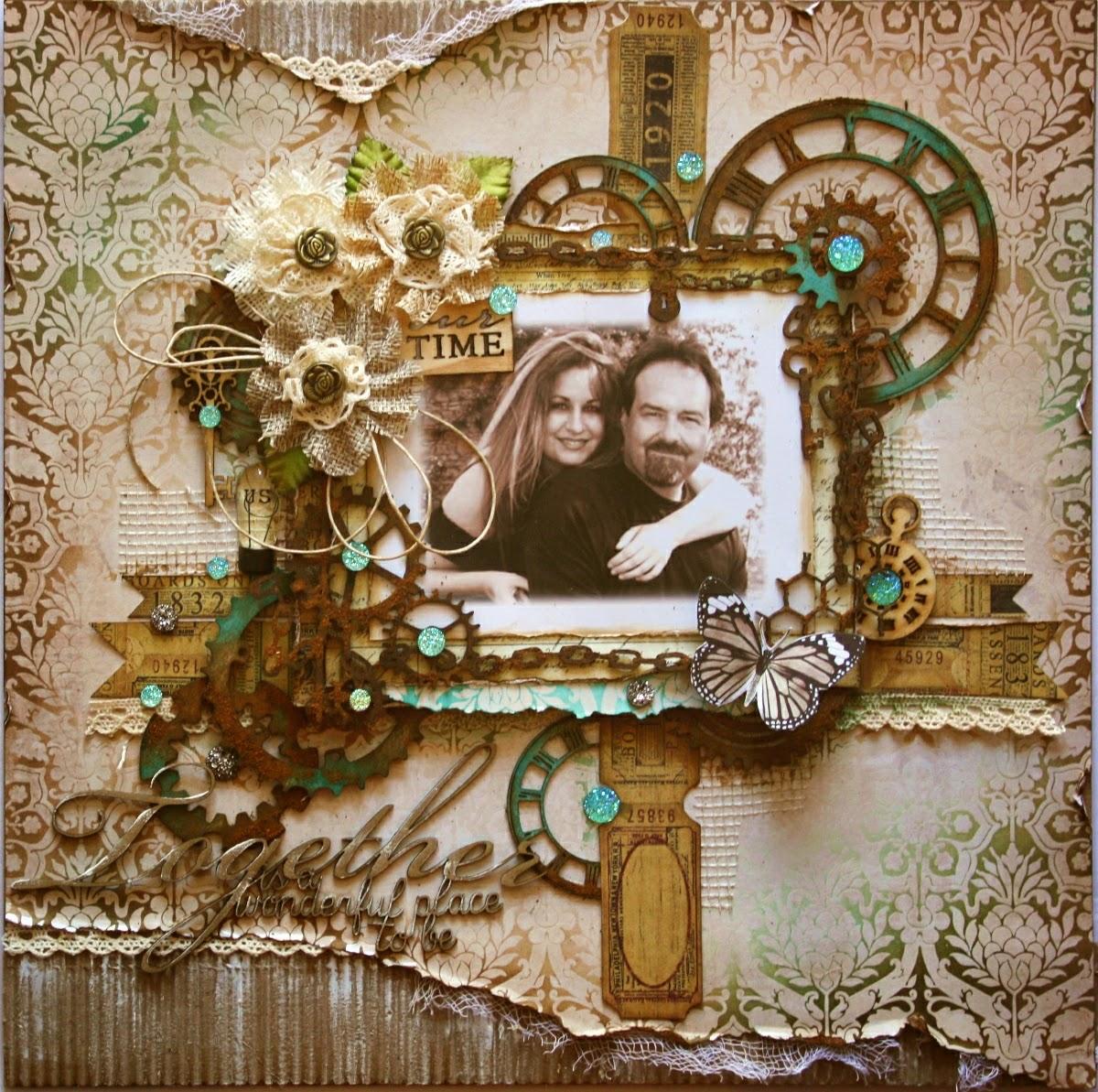 Scrapbook ideas romantic - Masculine Romantic The Scrapbook Diaries Plus A New Stamp