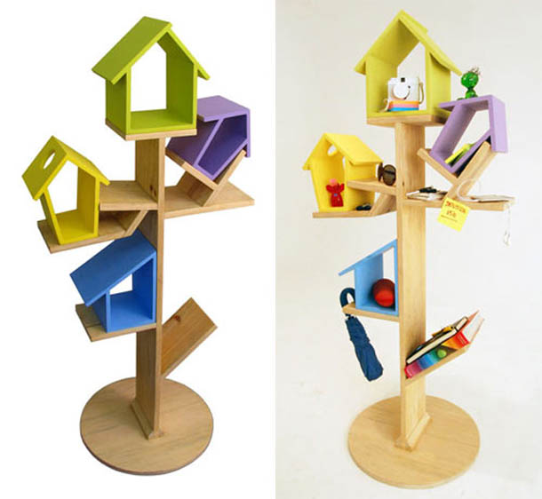 Perching Birds And Shelf Decor Furniture Stand For Children |Home ...