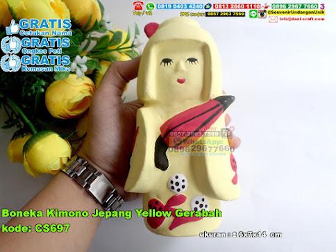 Boneka Kimono Jepang Yellow Gerabah