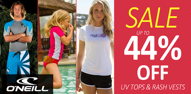 44% off O'Neill rash vests
