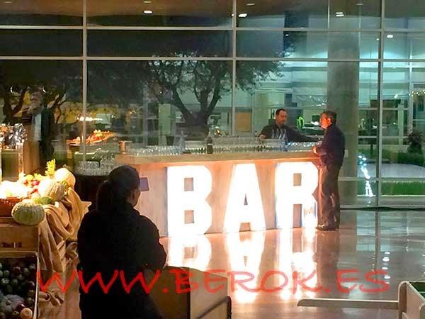 Detalle del Bar de la cena