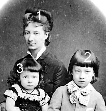 princesse Wladyslaw Czatoryski, née princesse Marguerite d'Orléans et ses enfants