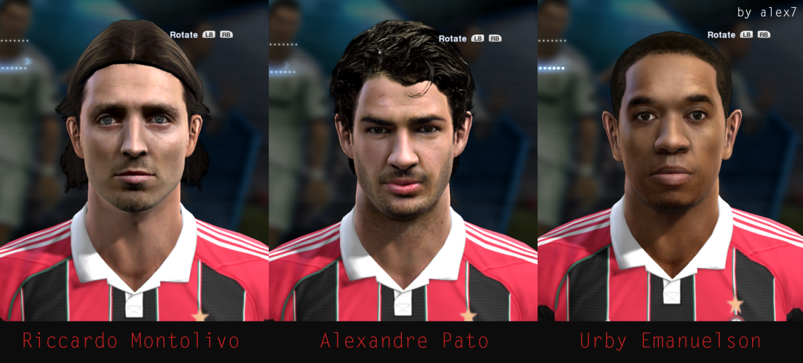 Milan Mini Facepack | 3 Faces - PES 2013