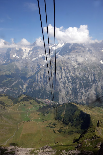Venturing up the schilthorn for unforgettable views of the eiger alps bernese swiss switzerland bern interlaken lauterbrunnen murren sciox Image collections