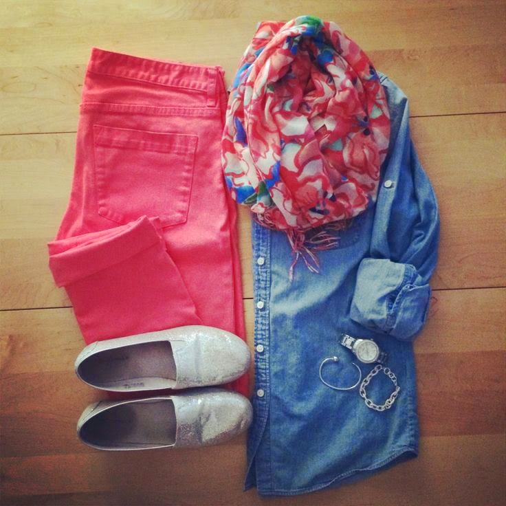 Colored Pants And  Shirt