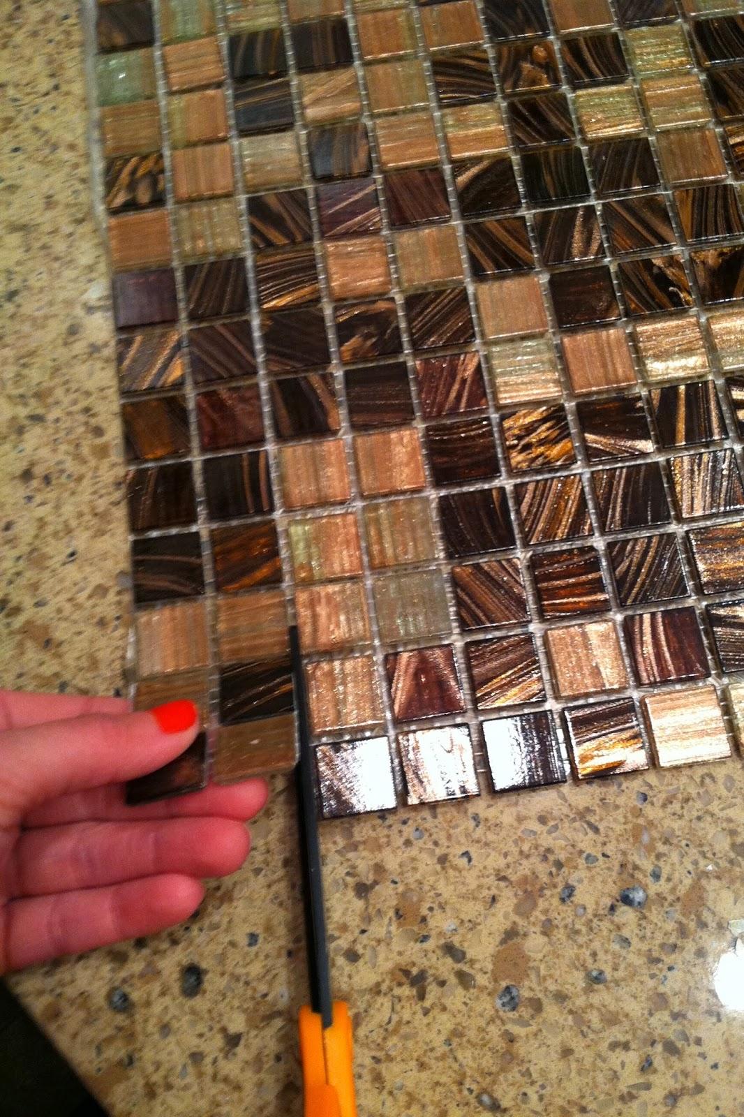 Putting up tile backsplash
