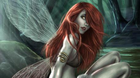 Art fairy redhead