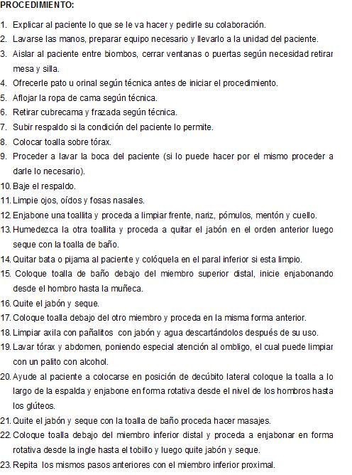 Baño De Regadera En Ninos:CLASES FUNDAMENTOS DE ENFERMERIA: Baño en cama (de Esponja)