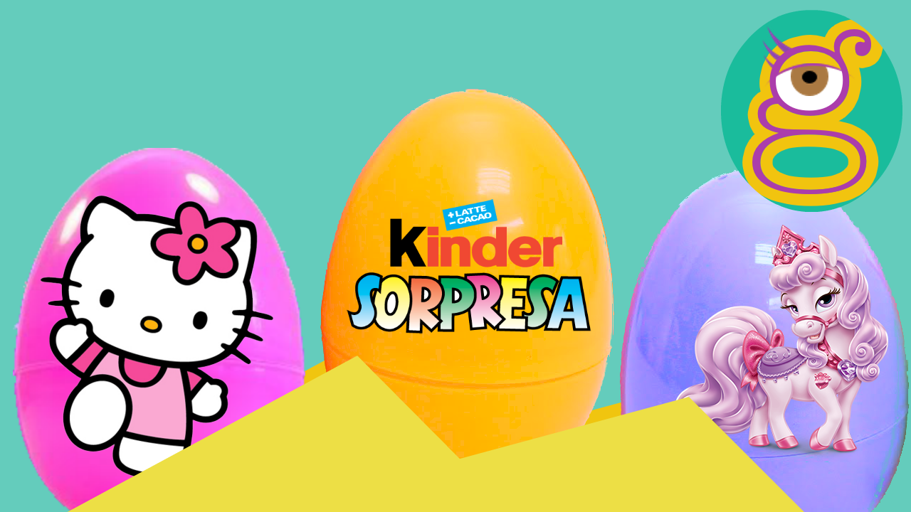 Huevos sorpresa surprise eggs Hello kitty Palace Pets Kinder Sorpresa Kinder Surprise tremending girls