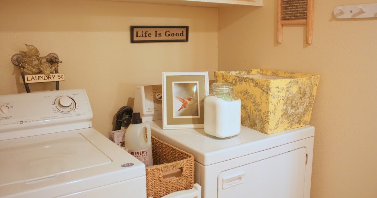 Toile Laundry Room Ideas: BALANCED STYLE: My Humble Laundry Room