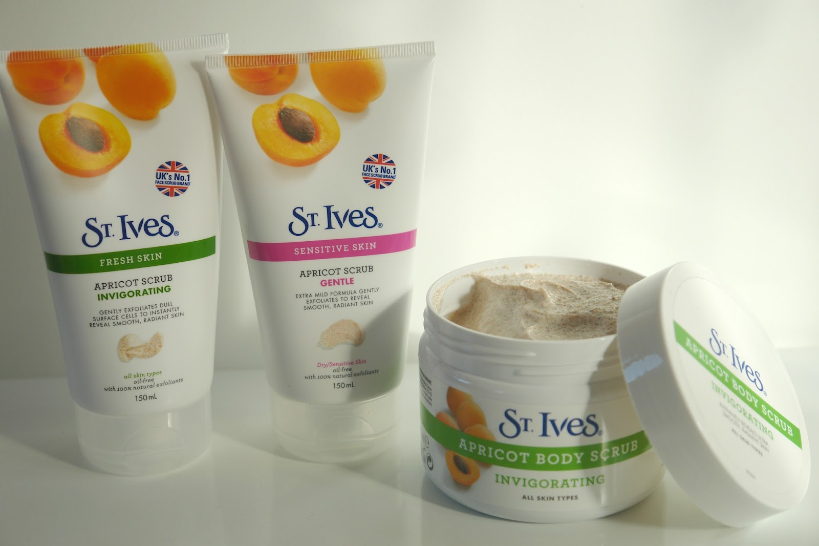 St. Ives face and body scrubs, beauty, review, skincare,