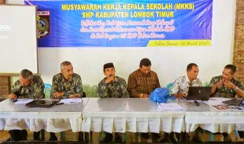 Pengurus MKKS SMP Kabupaten Lombok Timur