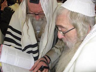 "Rav Meir Brandsdorfer ztz""l with Rav Eliezer Berland shlit""a"