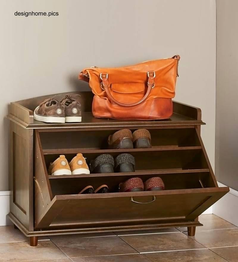 Arquitectura de casas armarios y dispositivos zapateros for Mueble para zapatos madera