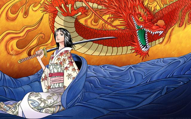 Robin With Kimono