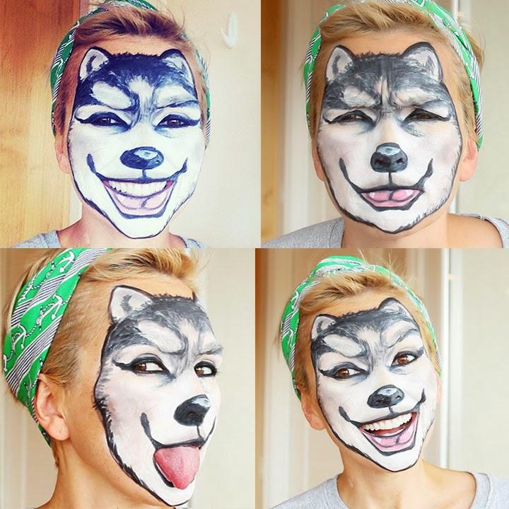 Wolf Face Makeup: Last Minute Costume Look - Last Minute Costume Makeup