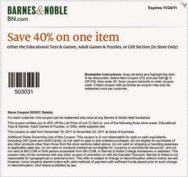 Coupon codes for barnes and noble