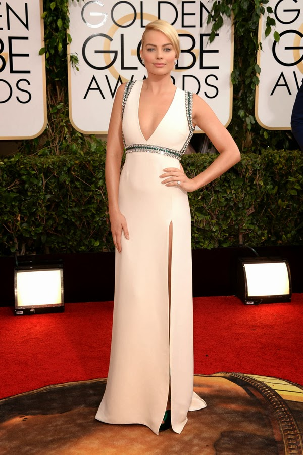 2014 Golden Globes Margot Robbie in Gucci