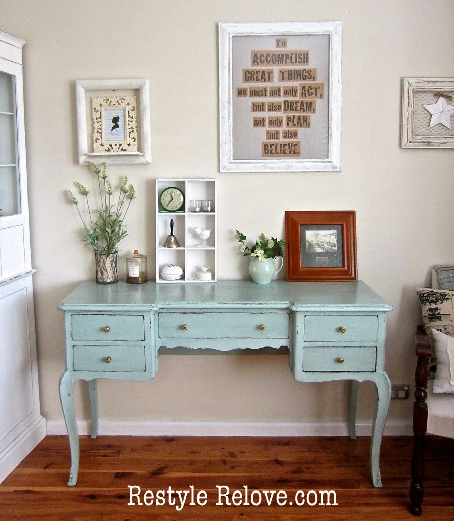 Painted Dressing Table ~ Antique painted dressing table