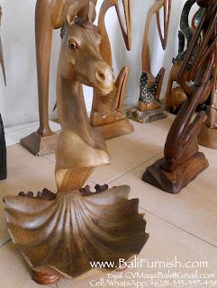 Bali Carvings Horses