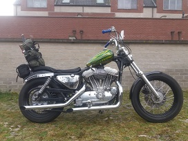 Green sporty chopper