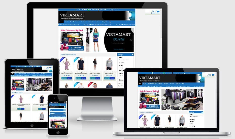 Download Template Toko Online Virtamart Terbaru Lengkap