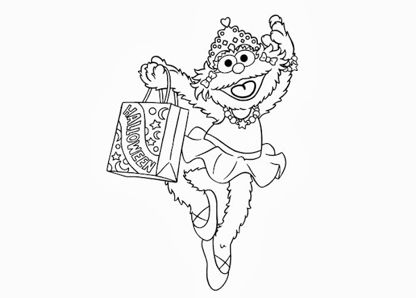 Sesame Street Zoe Coloring Pages