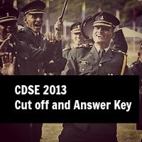 cdse 2013 cut off and answer key solution