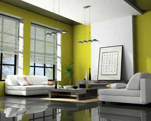 Warna Cat Rumah Minimalis - Putih Hijau