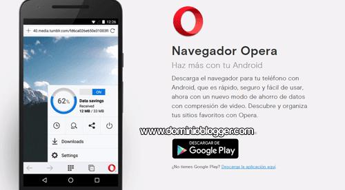 Navegador Opera gratis para Android