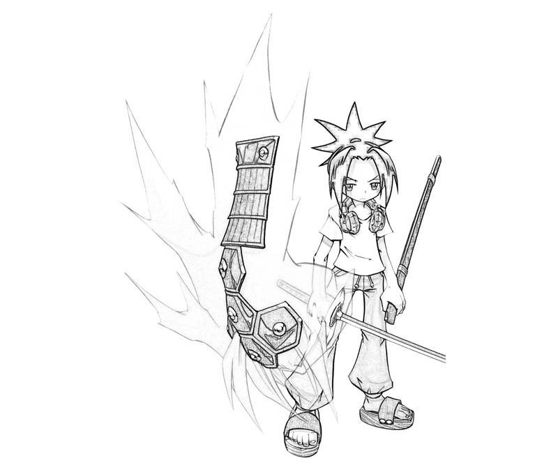 shaman-king-yoh-asakura-weapon-coloring-pages