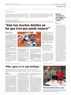 entrevista a jorge lorenzo en la provincia
